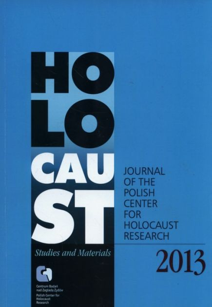 Holocaust Studies and Materials /Volume 2013/